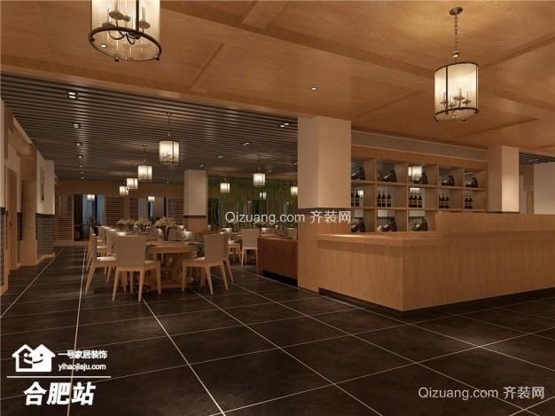 巴厘岛海鲜餐厅混搭风格装修效果图实景图