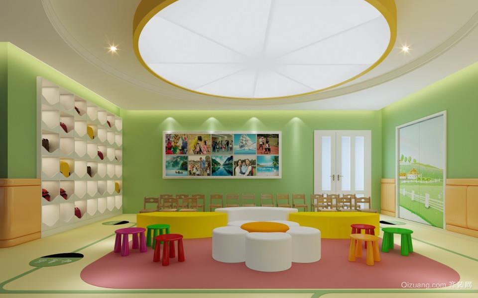 幼儿园装修现代简约装修效果图实景图