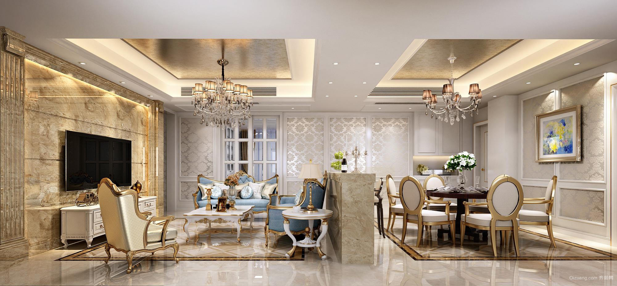 阳光凡尔赛宫欧式风格装修效果图实景图