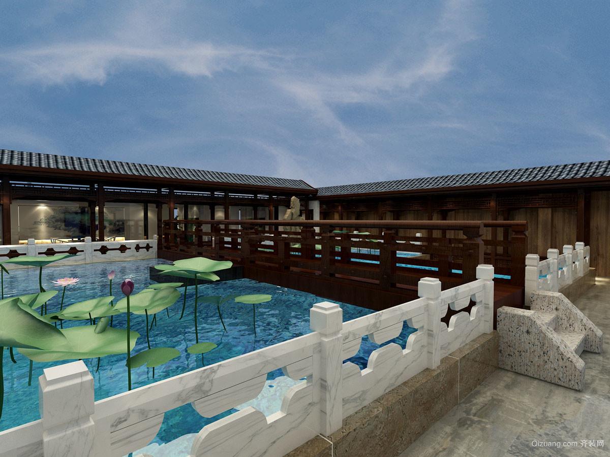 5000平米中式家装贯标装修风格v家装-邢台齐装建筑设计图片图片