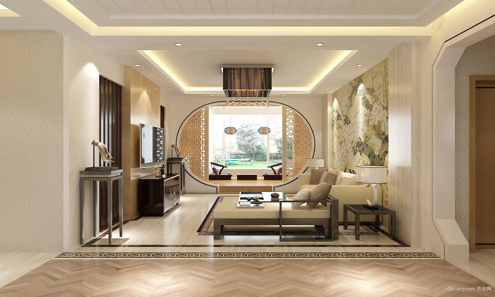 150平米普通家装中式风格户型建筑图片v家装-邢装修设计所述职报告图片