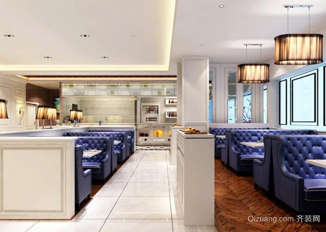 茶餐厅现代简约装修效果图实景图