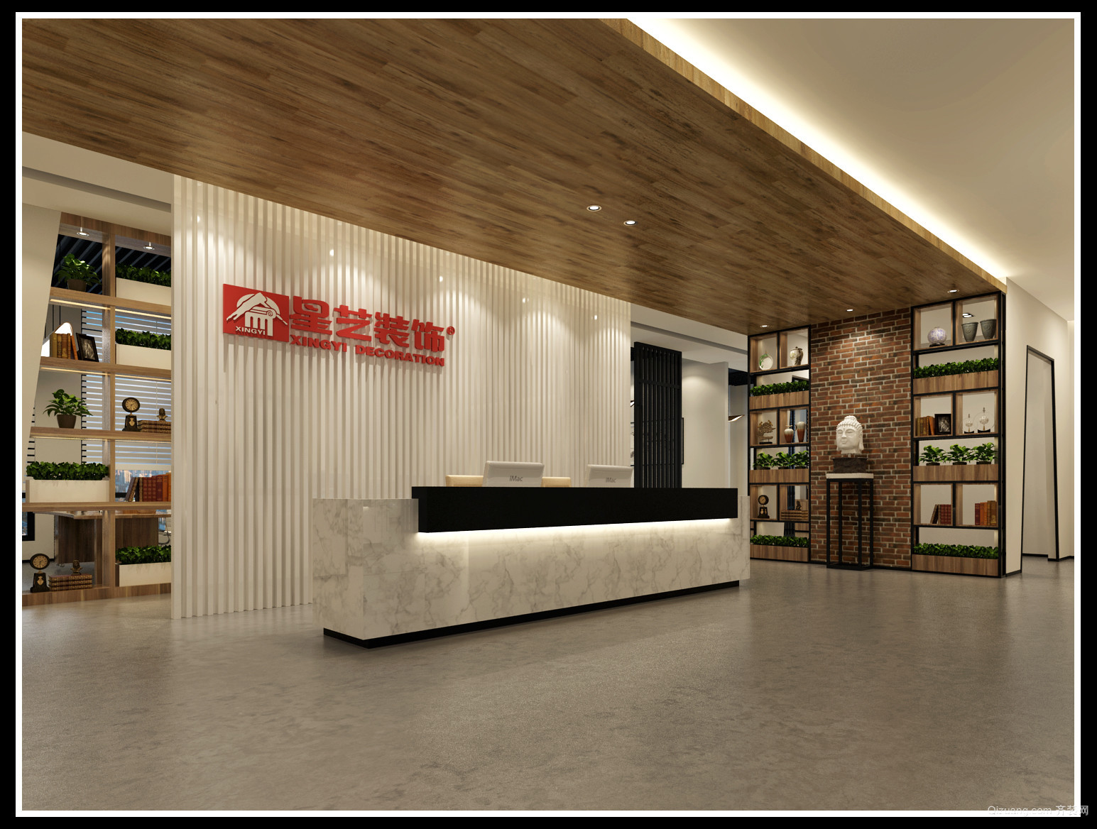 加州商业广场现代简约装修效果图实景图