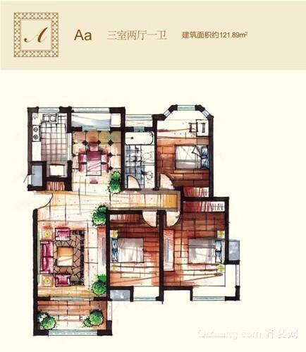 中海大观天下混搭风格装修效果图实景图