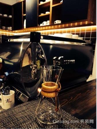 咖啡店中式风格装修效果图实景图