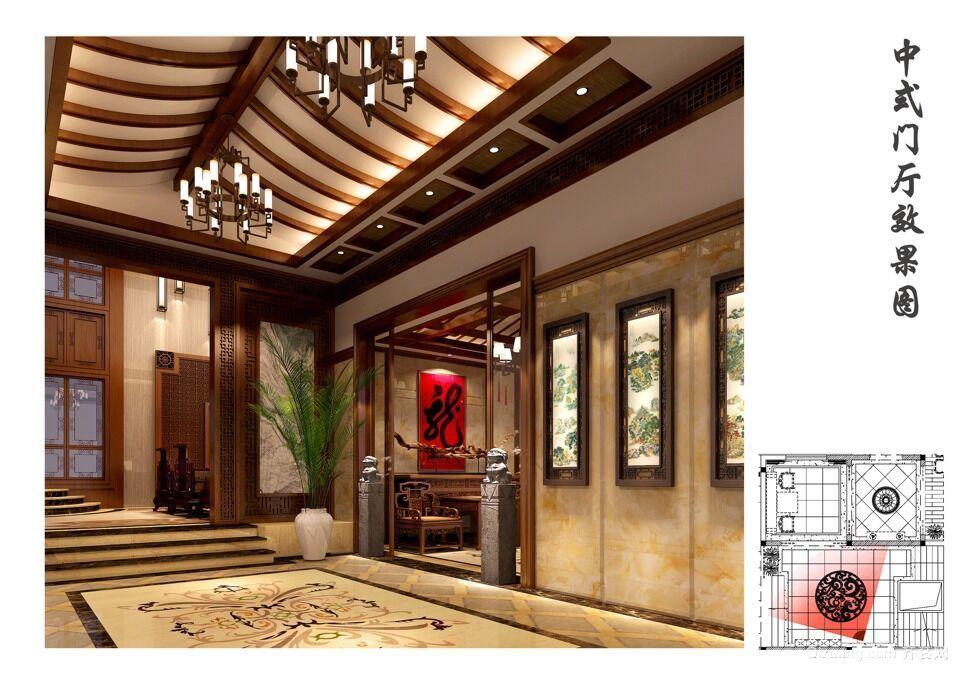 自建别墅中式风格装修效果图实景图