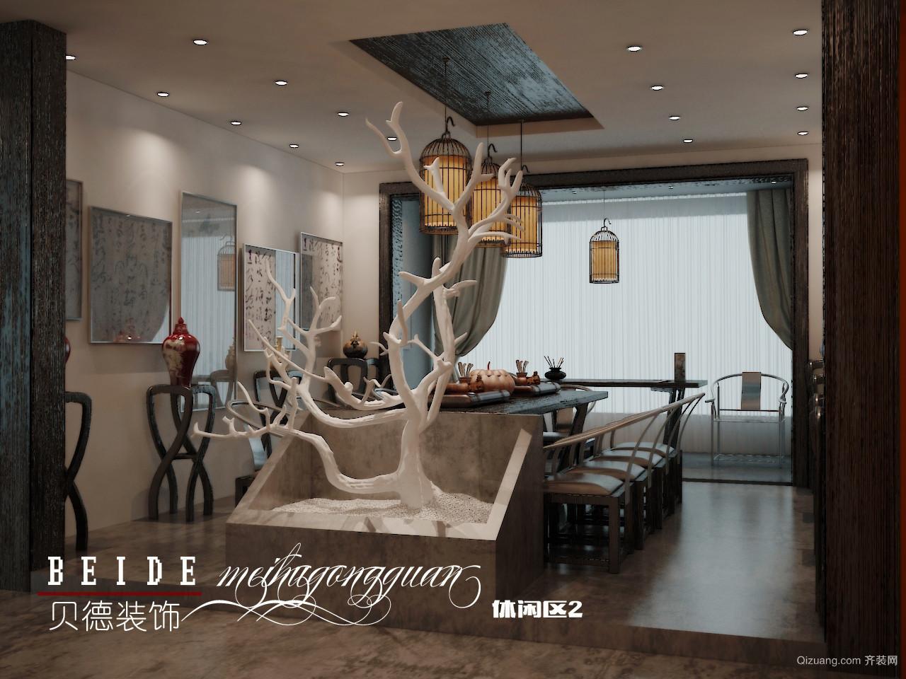 梅湖公馆中式风格装修效果图实景图