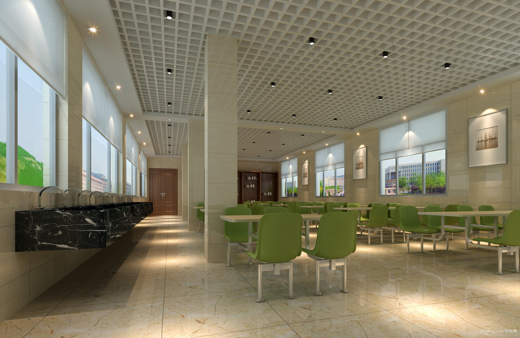 宜丰办公楼混搭风格装修效果图实景图