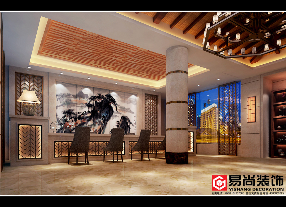老城客棧主題賓館混搭風格裝修效果圖