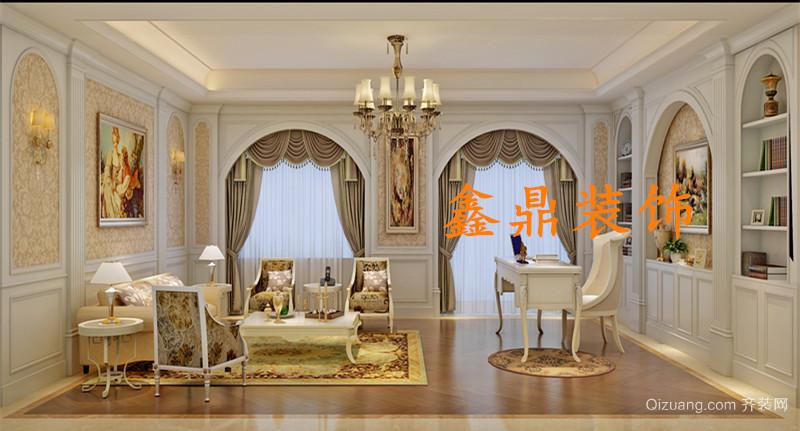 青岩刘别墅美式风格装修效果图实景图