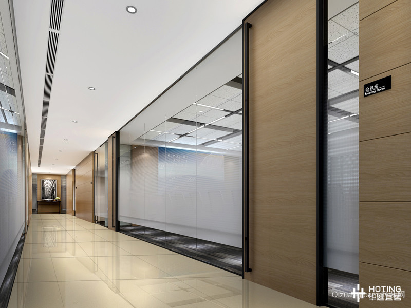 办公室现代简约装修效果图实景图