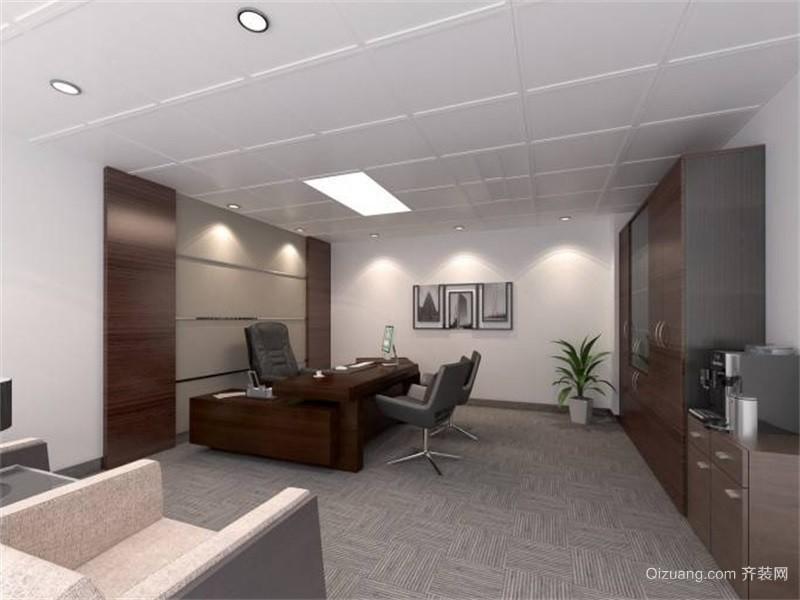 五洲城商务中心现代简约装修效果图实景图