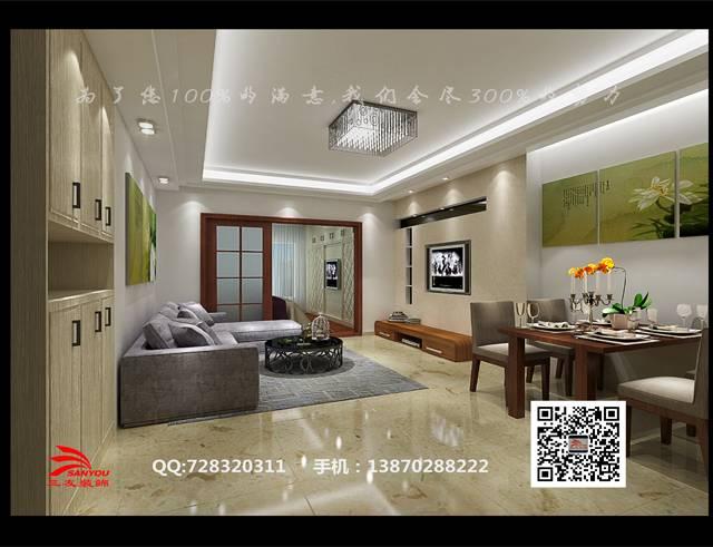 浔阳江畔50㎡普通户型现代简约装修案例