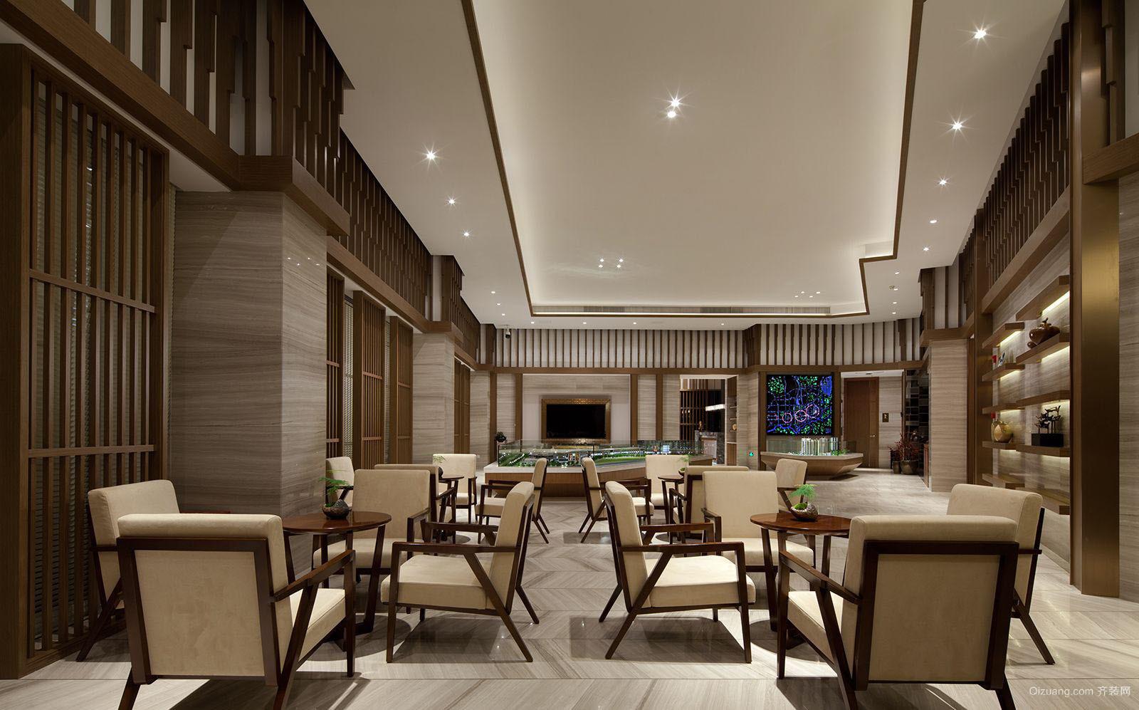 亨达售楼中心中式风格装修效果图实景图