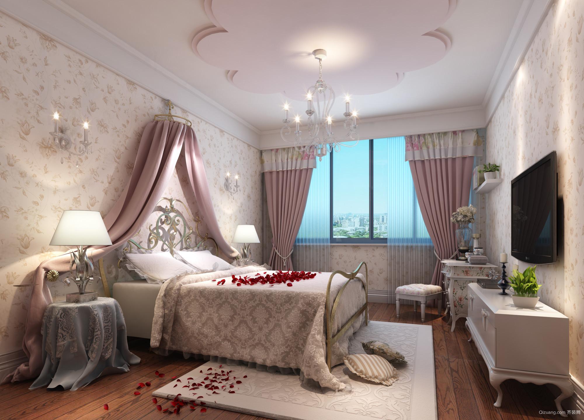 紫荆庄园3期欧式风格装修效果图实景图