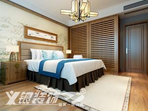 华强广场143平米三居室设计效果图