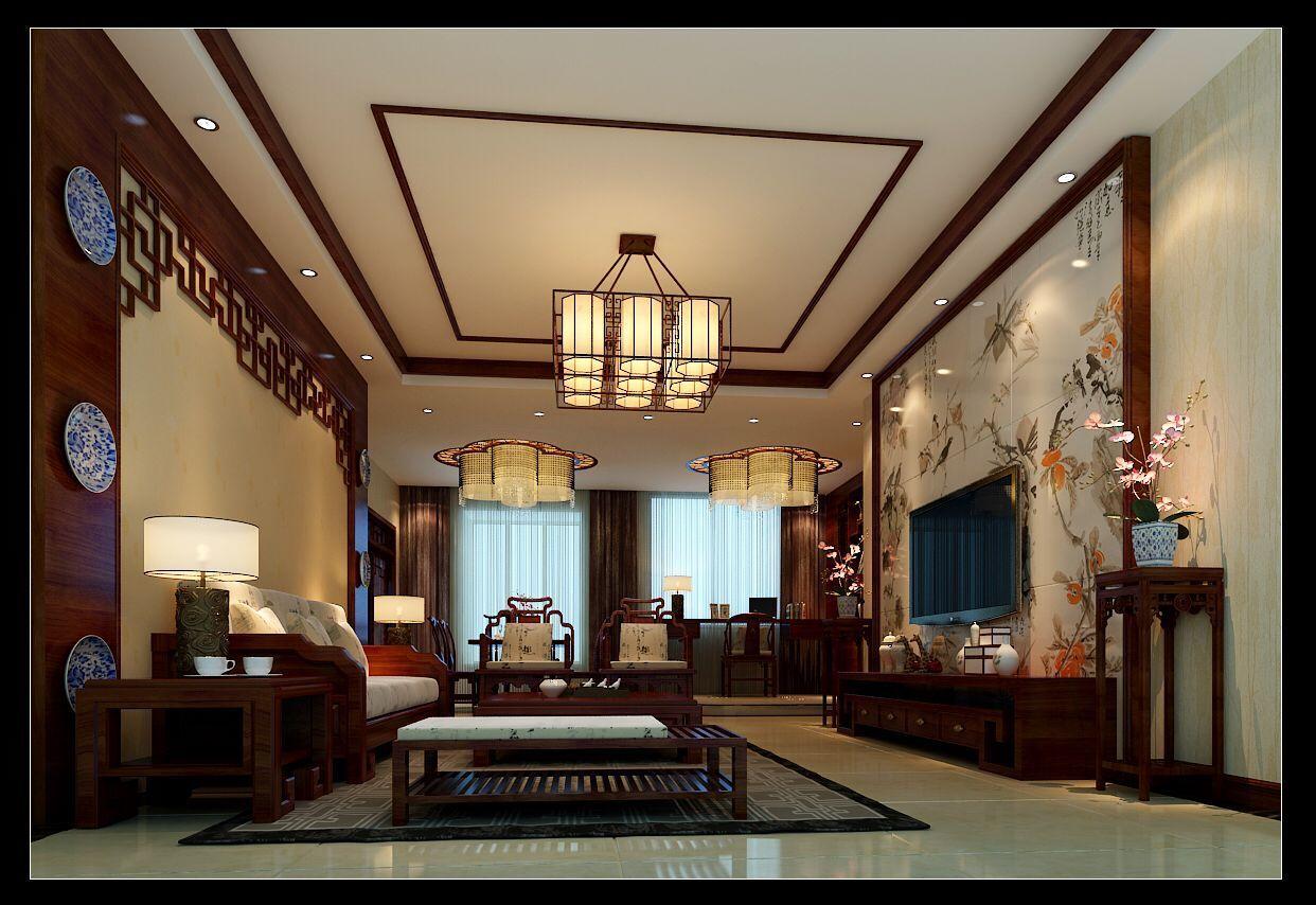 墨江豪庭中式风格装修效果图实景图