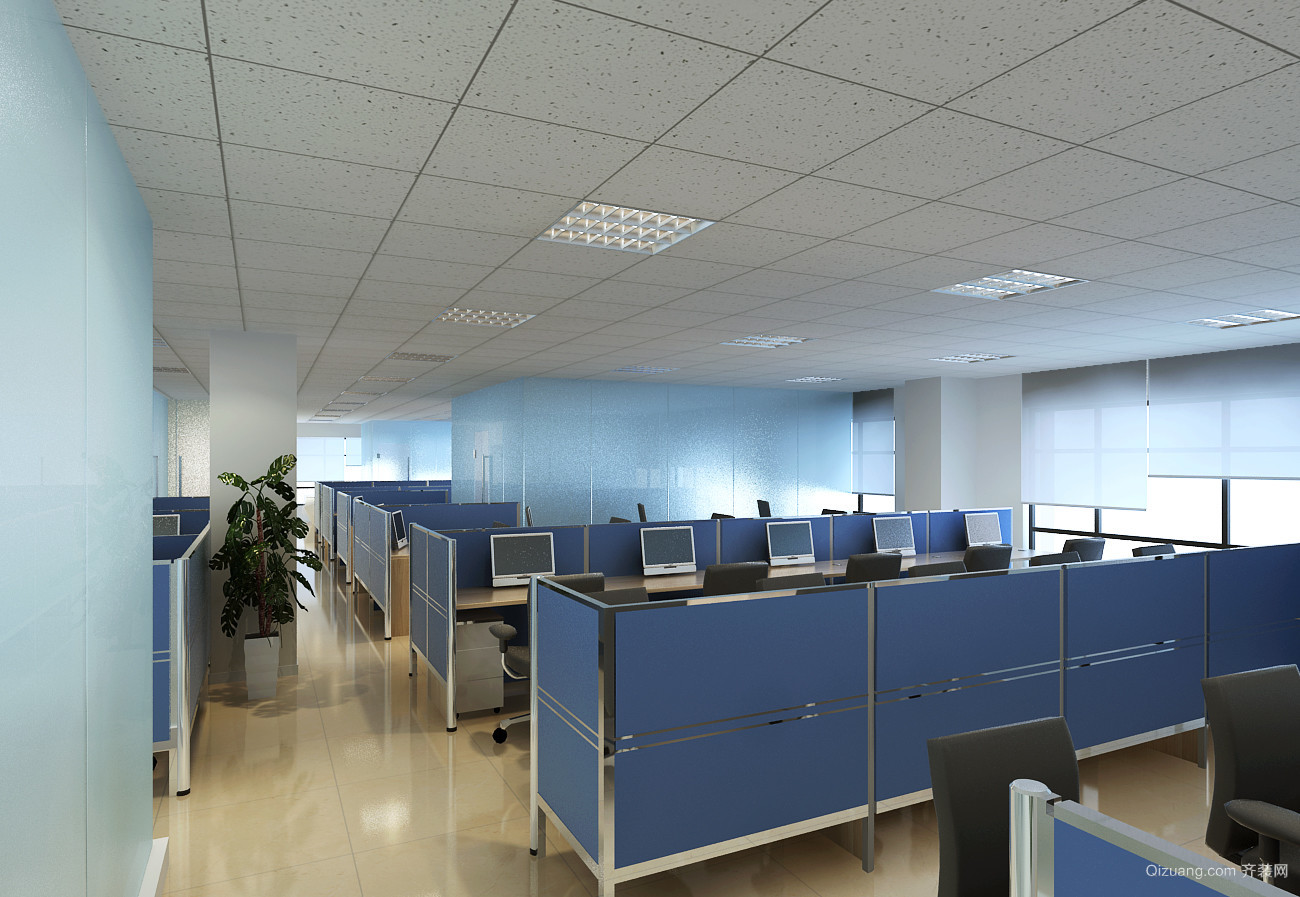 办公室美式风格装修效果图实景图