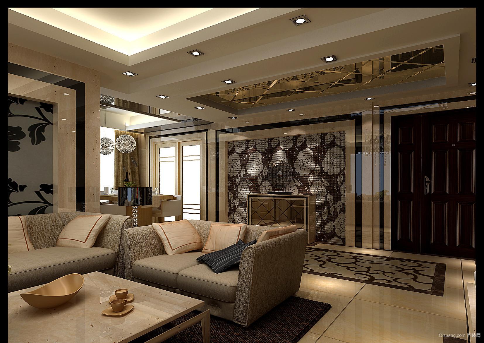 东升苑北区混搭风格装修效果图实景图