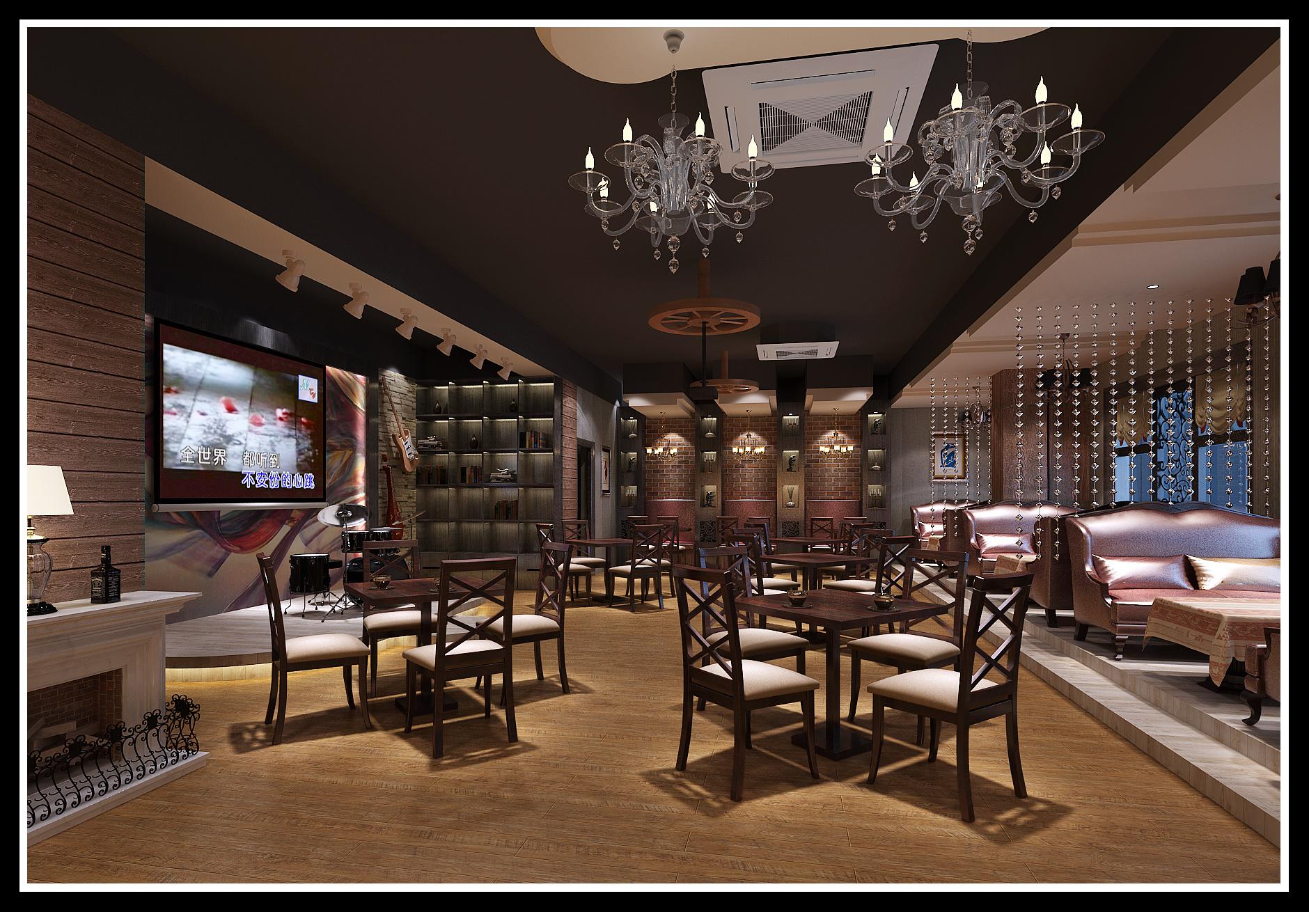 杭州咖啡廳混搭風格裝修效果圖
