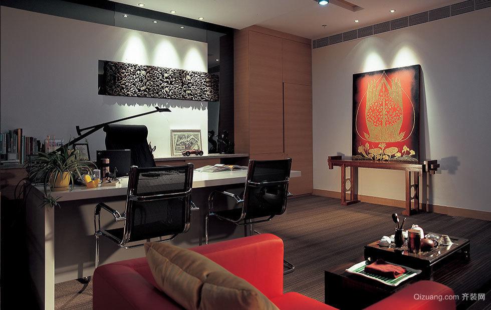 海松办公楼装修案例现代简约装修效果图实景图
