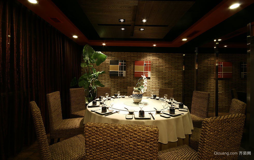 湘粤传说餐厅混搭风格装修效果图实景图