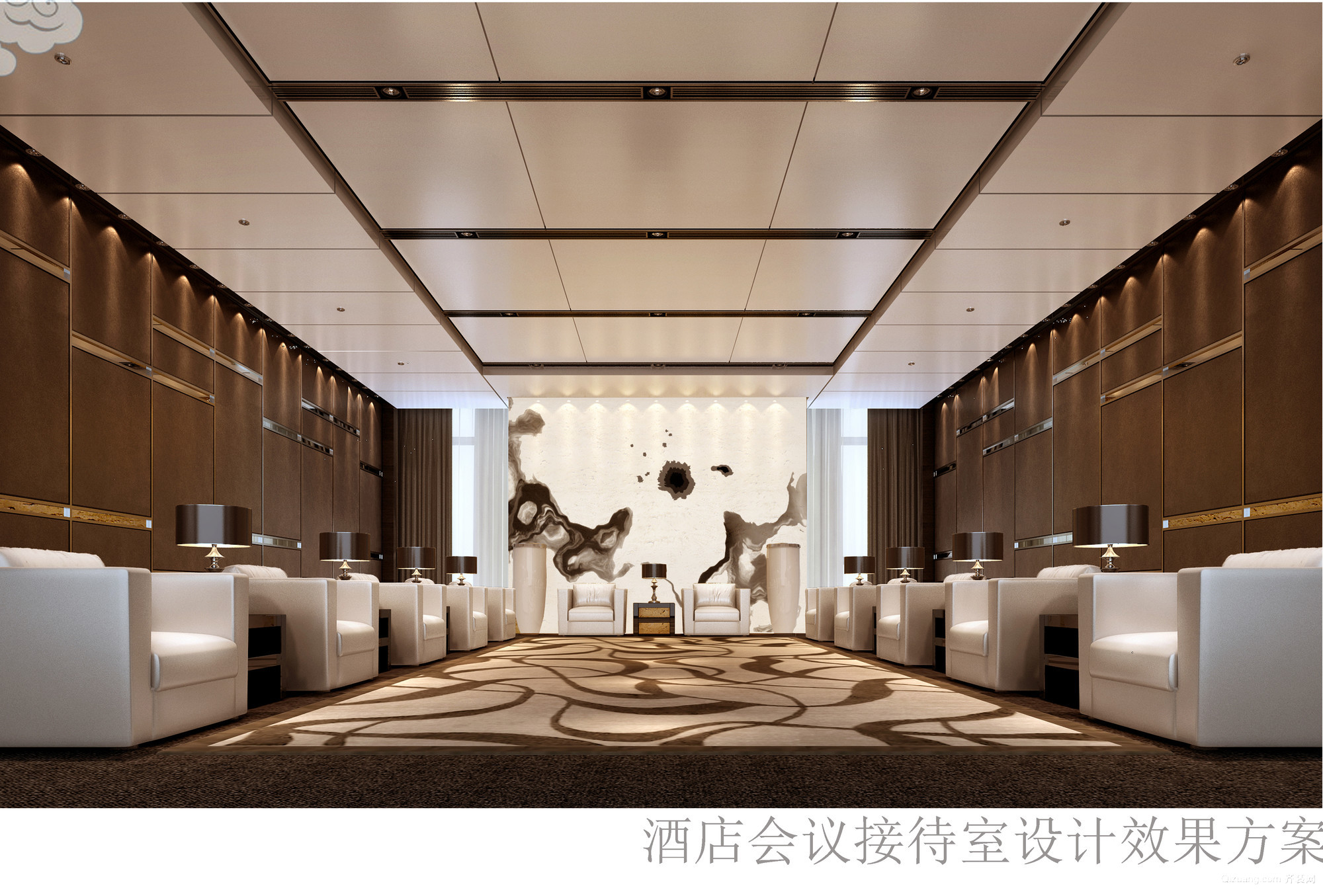 国际酒店中式风格装修效果图实景图