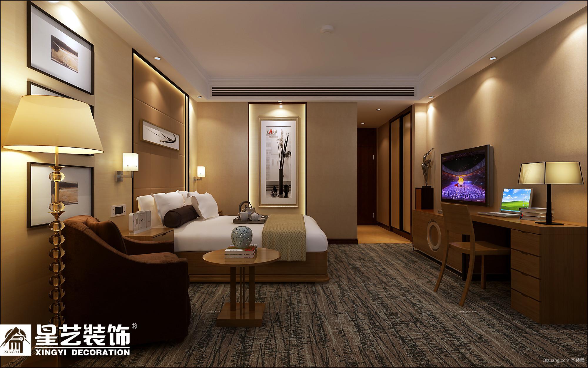 宾馆套房现代简约装修效果图实景图
