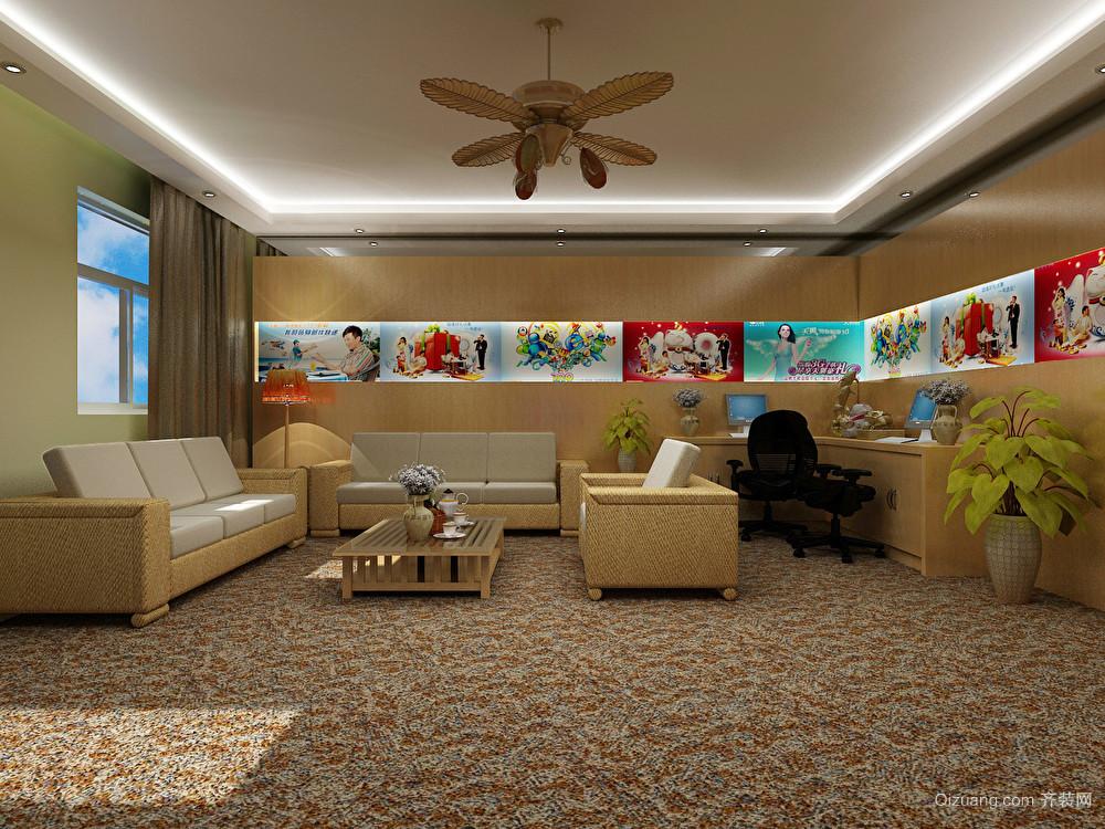 凤凰机场VIP营业厅现代简约装修效果图实景图