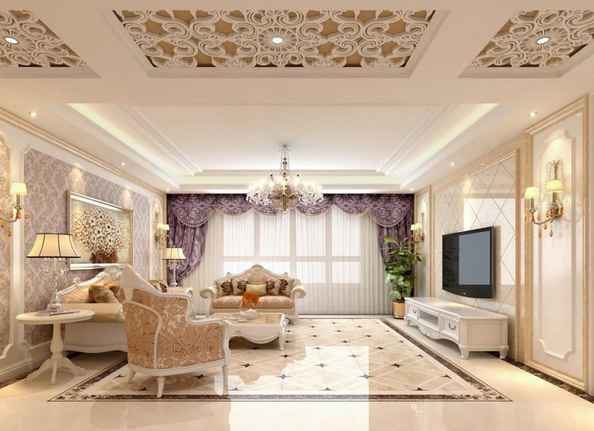 呼和浩特回民区万达广场欧式风格装修效果图实景图