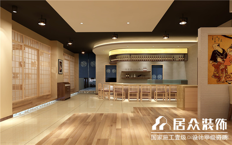 日式餐厅中式风格装修效果图实景图