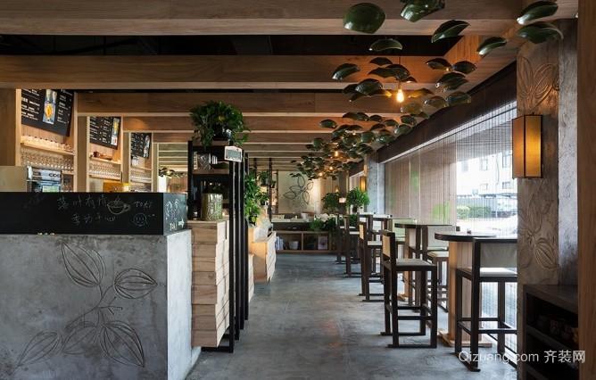 咖啡厅田园风格装修效果图实景图