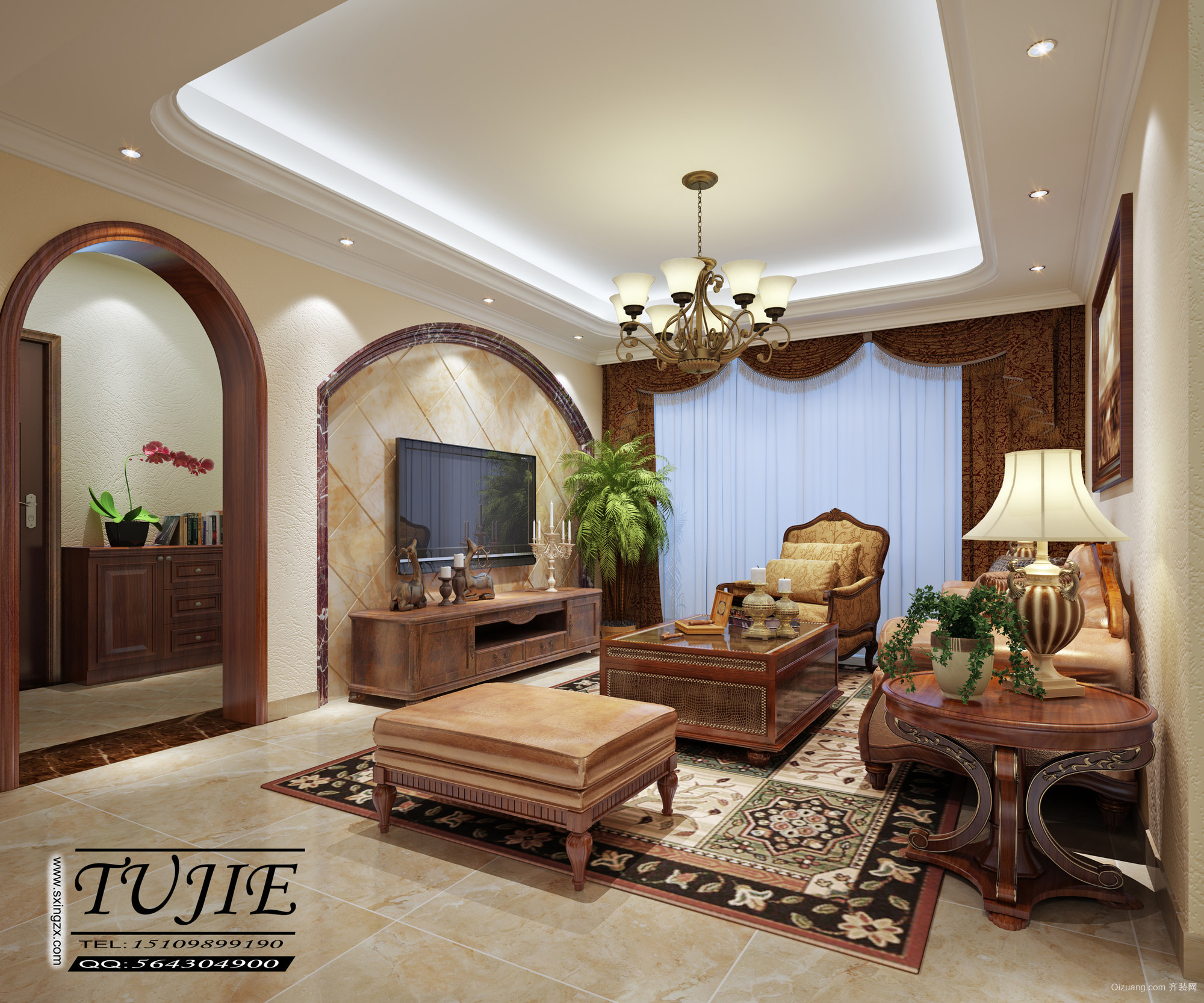 正大豪庭欧式风格装修效果图实景图