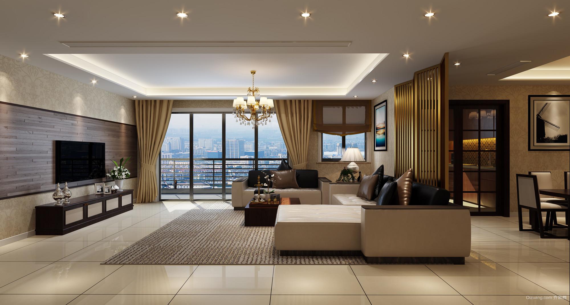 绿城公寓锦兰混搭风格装修效果图实景图