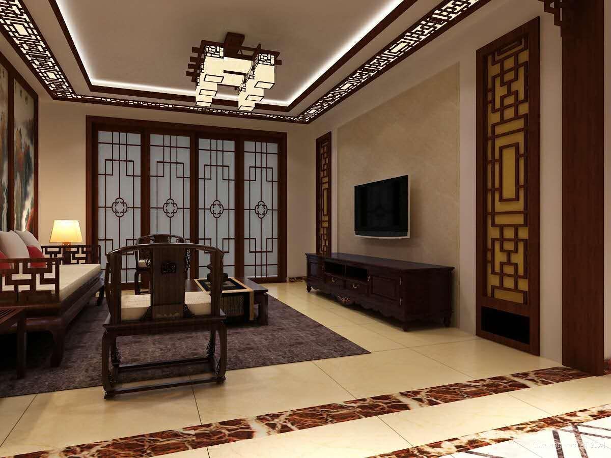 泰山公馆中式风格装修效果图实景图