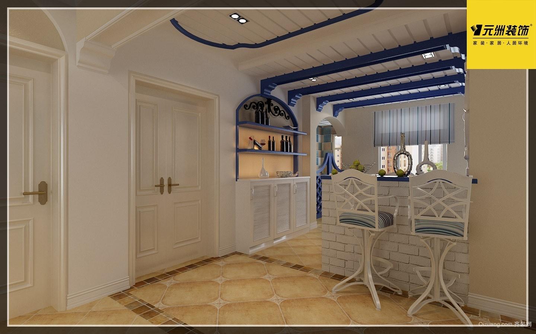 西湖一号地中海风格装修效果图实景图
