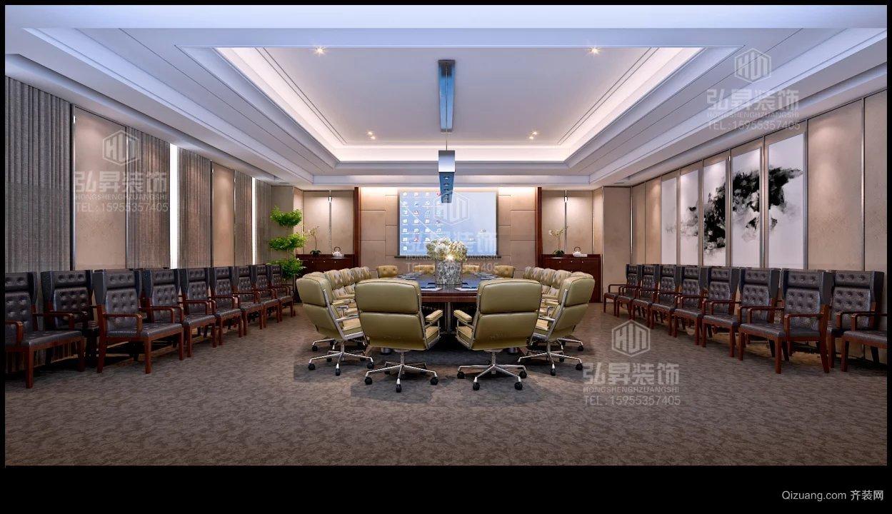 芜湖县金融服务中心现代简约装修效果图实景图