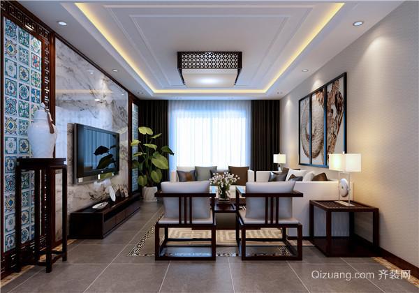 长江越领中式风格装修效果图实景图