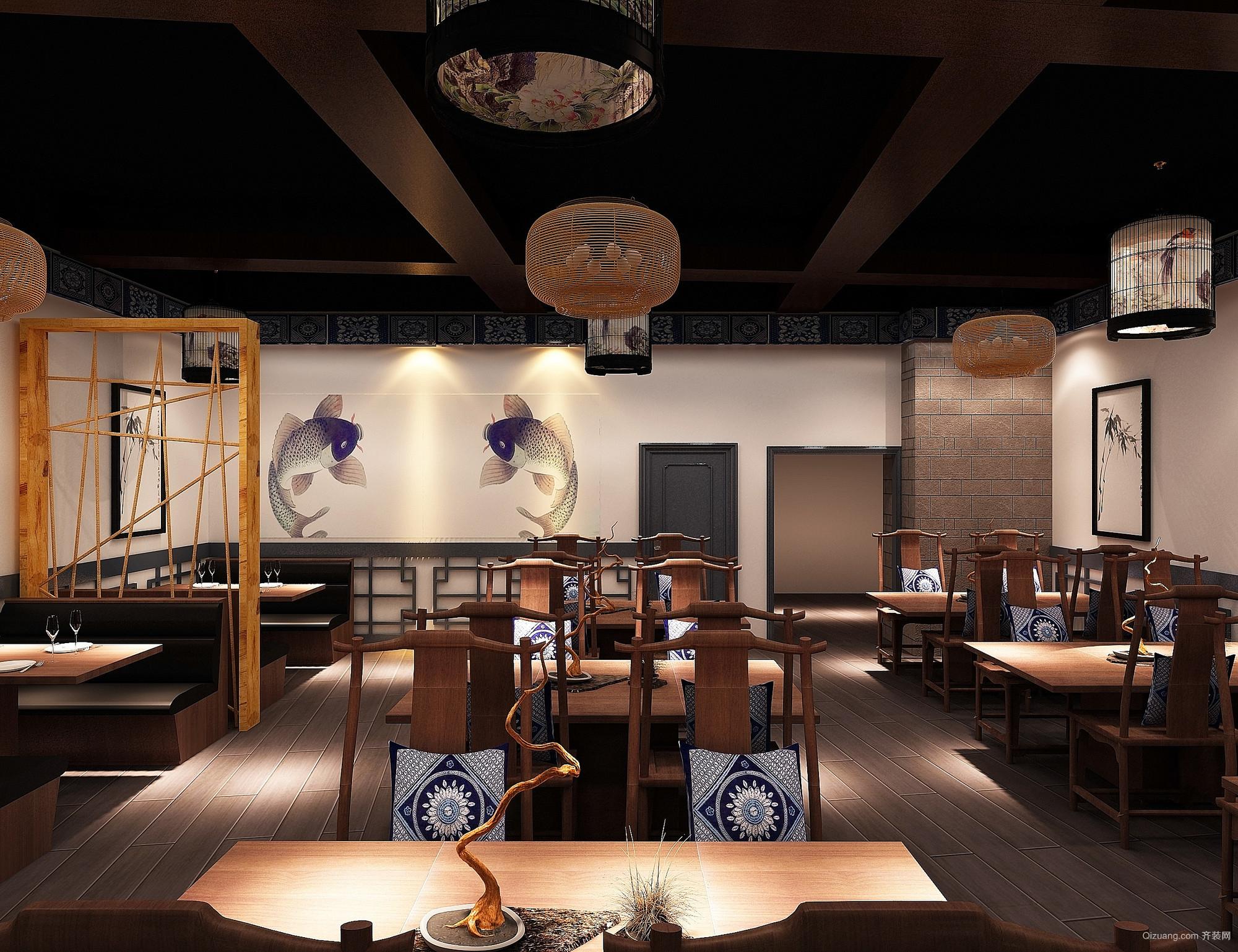 大菠萝广场中式风格装修效果图实景图