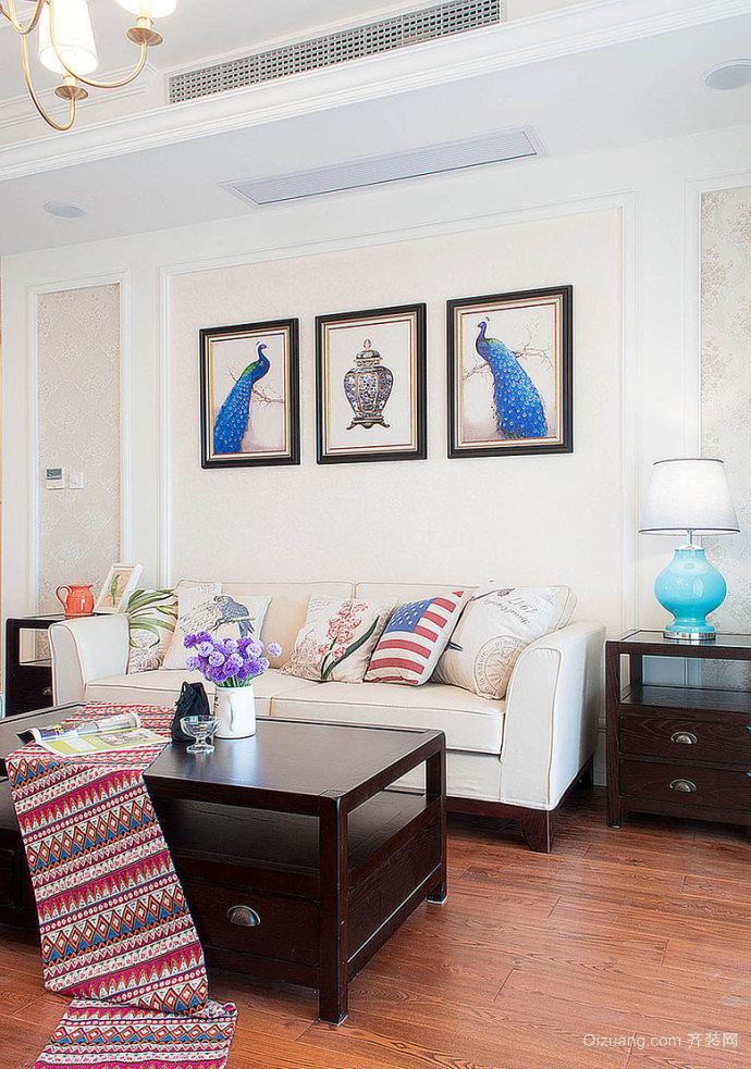 雅戈尔紫玉花园美式风格装修效果图实景图