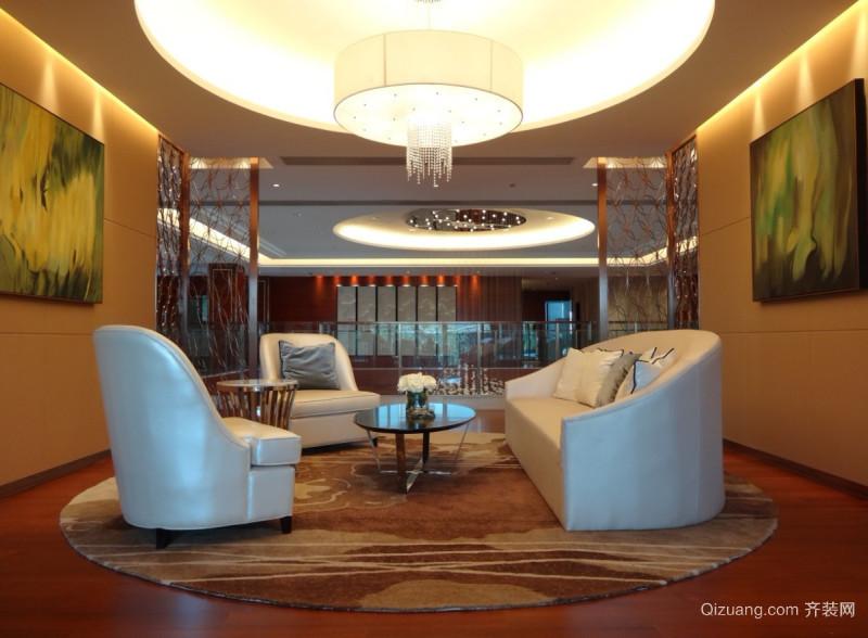 龙湖大厦商铺现代简约装修效果图实景图