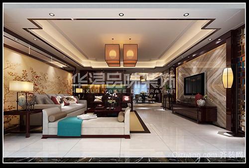 合信星湖城中式风格装修效果图实景图