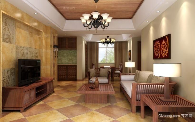 凤凰水城红树湾中式风格装修效果图实景图