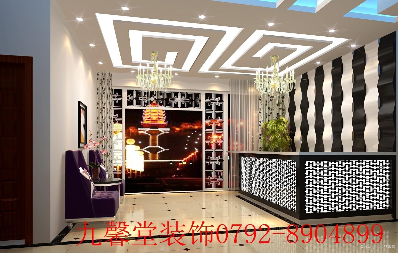 公装大厅现代简约装修效果图实景图