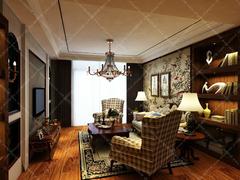 美式风格-长江之歌两居室美式设计