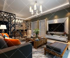 现代简约-长江湾一号三居室设计