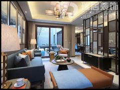 现代简约-芜湖万科城188平别墅现代风格装修效果图