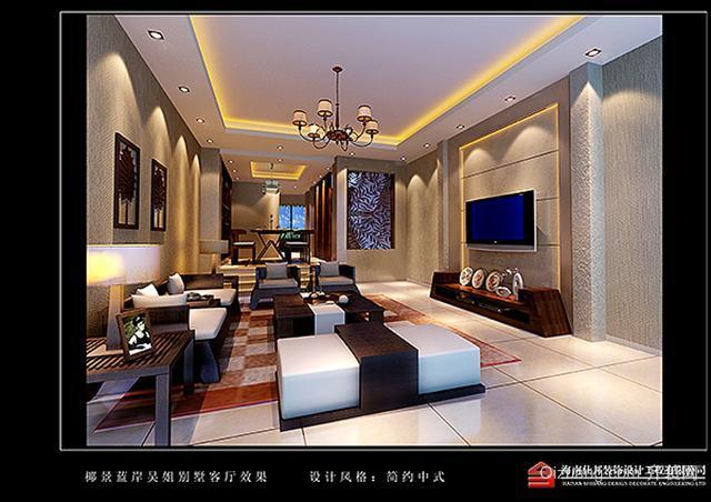 金元椰景蓝岸别墅现代简约装修效果图实景图