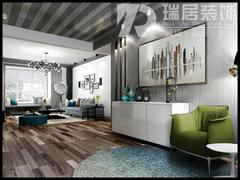 现代简约-芜湖颐景湾畔110平现代风格装修效果图
