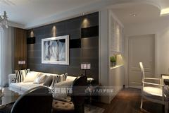 中式风格-伊顿津桥130平米新古典风格效果图案例